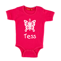 Personalised Short Sleeve Body Suit