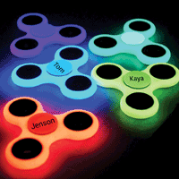 Personalised Glow in the Dark Fidget Spinner