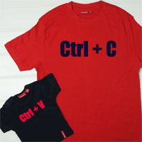 Personalised CtrlC CtrlV T Shirt set
