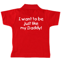 Personalised Just Like Daddy Polo Shirt