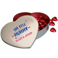 Personalised Chocolate Heart Tin
