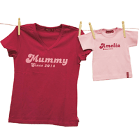 Personalised Mummy Since and Matching Baby T