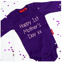 Personalised First Mothers Day Babygrow