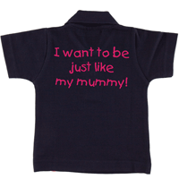 Personalised Just Like Mummy Polo Shirt
