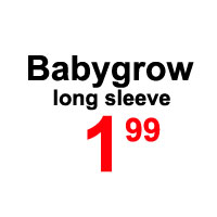 Sale- babygrow long sleeve