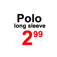 Sale- polo long sleeve