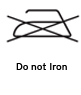 Do not iron