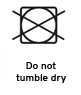 do not tumble dry