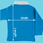 Child's Rugby Shirt Personalised with Child's Name 5