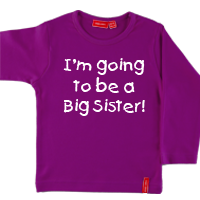 Personalised Long Sleeve Big Sister T Shirt