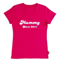 Personalised Mummy Since T shirt