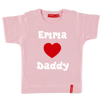 Personalised Love T Shirt Short Sleeves