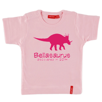 Personalised Dinosaur T shirt Short Sleeve