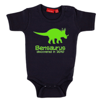 Personalised Dinosaur Babygrow Short sleeve