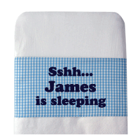 Personalised Baby Cot Bed Sheet